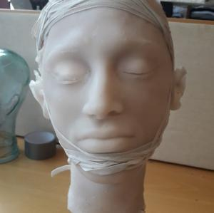 Silicone head for Crash theater