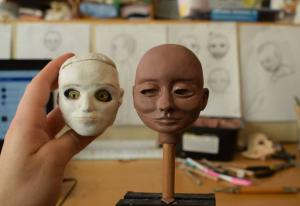 Doll head sculpt
