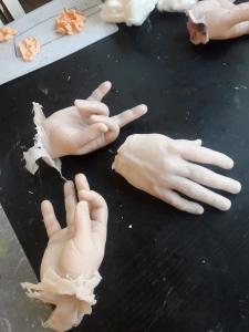 Silicone hands